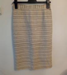 Mura prugasta krem suknja