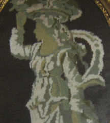 goblen pod staklom barokni okvir