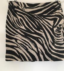 Zebra Trendi Mini Suknja H&M