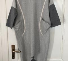 Siva tunika haljina balončica