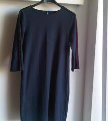 Modra rastezljiva haljina/tunika S/M