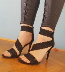 Sandale crne 39