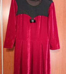 Diadema plišana haljina