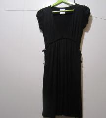 BERSHKA crna haljinica-tunika