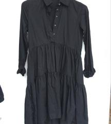 Crna haljina dugi rukav RESERVED
