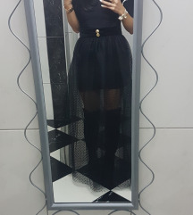 Crna til suknja+majica+pliš remen
