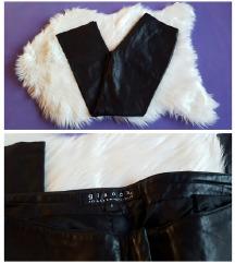 Kožne moderne crne Giacca hlače