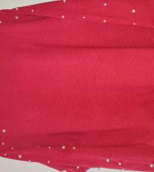 Crvena majca s perlicama