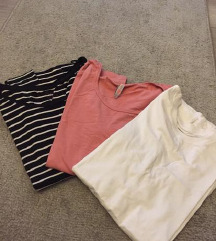 LOT 3 basic majice dugih rukava