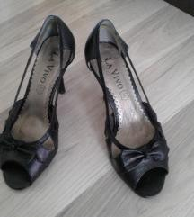 Crne sandale s mašnicom 37