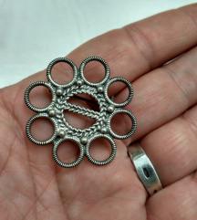 Vintage bros srebro 925
