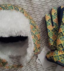 Malci ski rukavice i šubara