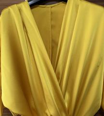 Satenska haljina na preklop