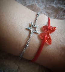 Leptir narukvica i zvijezdica čelik