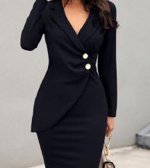 NOVO suit dress - crna odijelo haljina