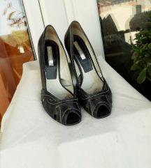 Sive sandale-salonke  PRAVA KOŽA