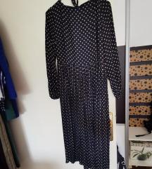Mango plisirana haljina na tockice