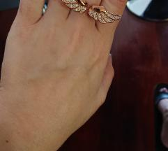 Prsten krila pozlata