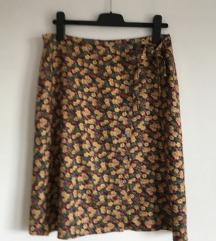 Svilena midi suknja