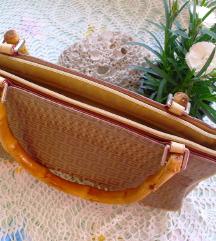 Predivna nova torba s bambusovim ručkama