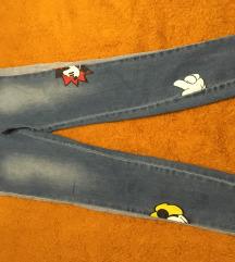 Mango dječje jeans hlače mickey