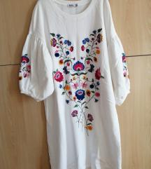 Haljina-tunika sa cvijetnim vezom L