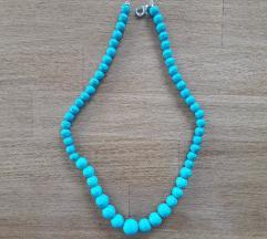 Ručni rad-tirkizna ogrlica