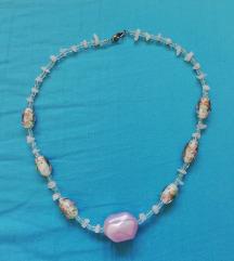 Ogrlica, plastika + murano kuglice