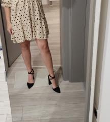 Krem haljina s točkicama