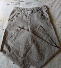 Divided svijetlo sive lanene hlače