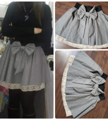 Suknja sa čipkom i mašnom SNIŽENA -20%