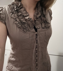 Vintage puf bluza s gumbićima