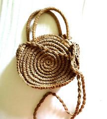 Mini pletena torbica