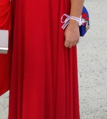 Vikend AKCIJA 300+PT Duga svečana crvena haljina