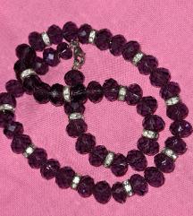 Ljubičasta (kao ametist) ogrlica