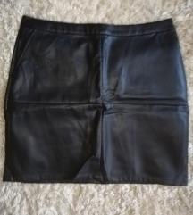 Crna kožna suknja 🖤