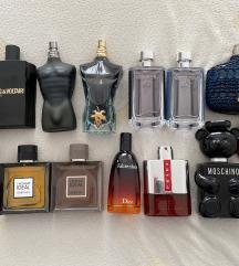 Dekanti muških parfema iz vlastite kolekcije
