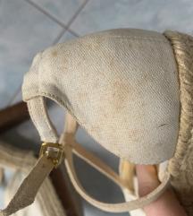 H&M krem sandale platformke