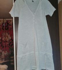 Fishbone vunena haljina s kapuljačom