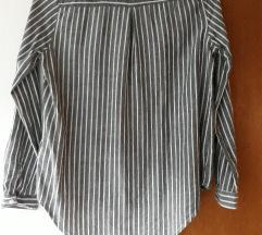 Sivo bijela pamučna košulja