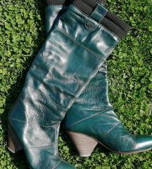 Miss Sixty smaragdno zelene kožne čizme