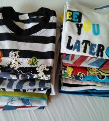 Lot 13 ljetnih majica za dječake 92