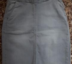 Zara siva traper suknja