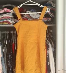 Žuta traper haljina