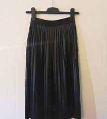 Kožna plisirana suknja