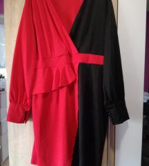 NOVA Rosegal crno crvena haljina vel 52/54