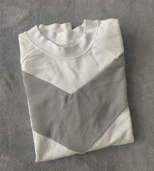 Sinsay majica M bijela zelena