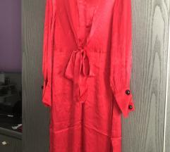Svilena crvena haljina by Mango🎈