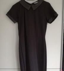 Crna haljina s kragnama