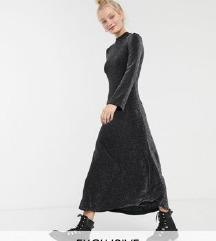 Crna NOVA gliter duga haljina Monki
